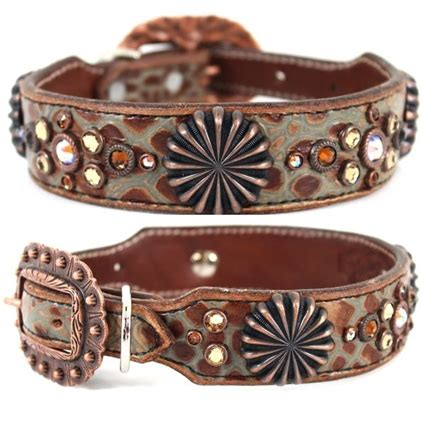 western leather collars brown western leather collar shadow