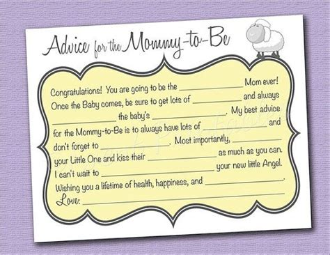 to be advice cards template 8 best images of advice cards printable baby