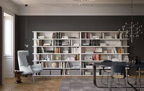 immagini librerie moderne libreria sospesa ideale per ambienti moderni idfdesign