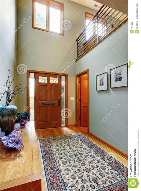 Modern Contemporary Floor Plans by Entrance Hallway In Modern House Stock Photo Image 45108977