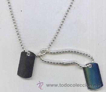 cadenas con chapas militares juego placas militares de plata con cadenas bol comprar