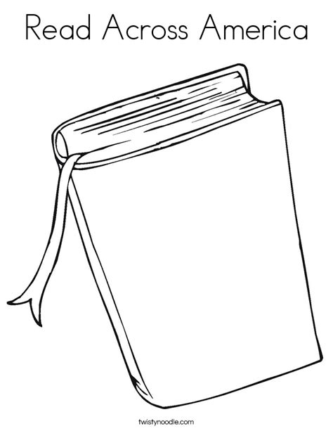 Read Across America Coloring Page