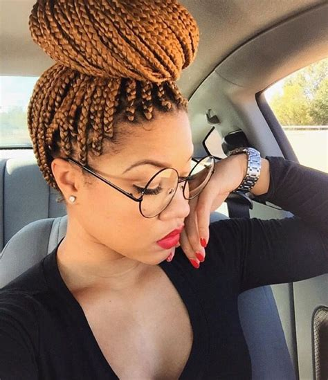 pictures of colored hair box braid buns 129 best images about braids twists locs on pinterest