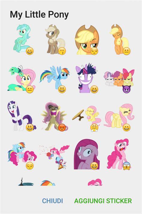 Stiker Sticker Pony my pony sticker set telegram stickers hub collection