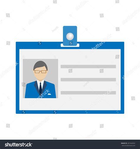 id card flat design id card icon flat style vector stock vector 287464592