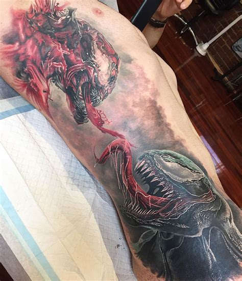 venom tattoo venom vs carnage side best ideas designs