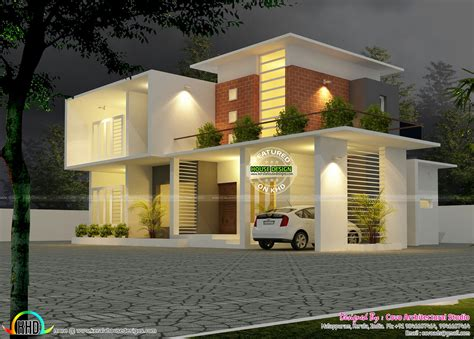 Modern Design House Plans by 2500 Sq Ft Home Kerala Home Design And Floor Plans