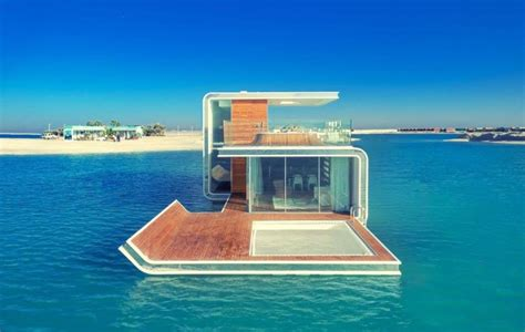 house boat hotel floating seahorse submerged holiday home underway in