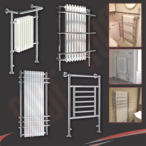 radiator towel rails bathrooms high btus traditional designer chrome heated towel rails