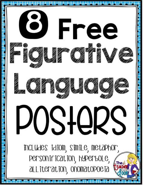 printable figurative language poster classroom freebies too figurative language posters