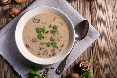 mushroom soup mushroom soup recipe epicurious com
