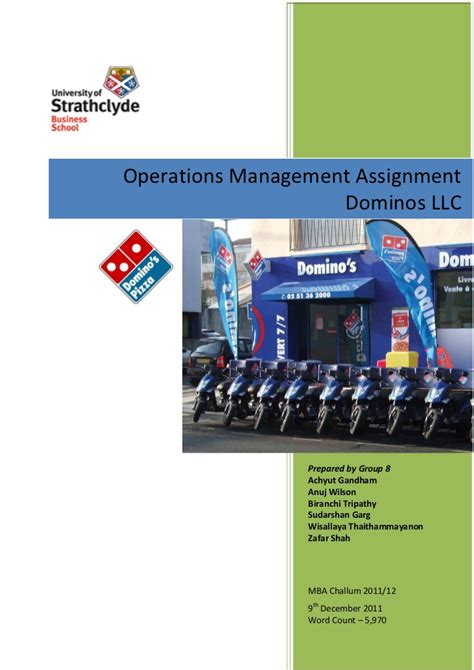 Mba Projects In Operations Management Pdf by Mba Operations Management Assignment Slideshare Pdf
