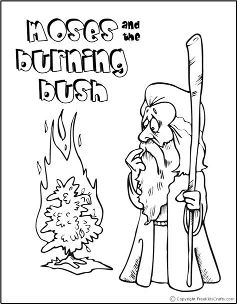 Preschool Bible Story Coloring Pages 708 908 Pixel Burning Bush Coloring Page Moses And The by Preschool Bible Story Coloring Pages