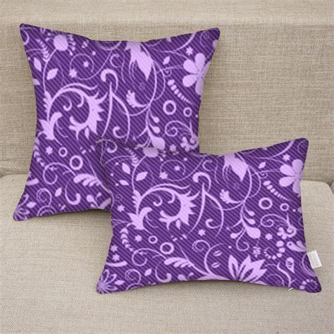 purple throw pillows canada custom personalized purple floral print decorative pillow