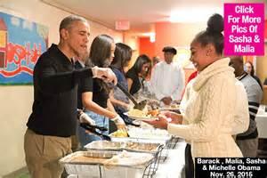 obamas thanksgiving obama family serves thanksgiving dinner to homeless