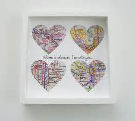 unique wedding gifts unique wedding gift personalized map heart art by
