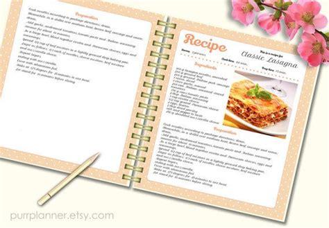 Recipe Template Cook Book Doc Pdf Pattern Editable Recipe Pages Recipe Book Blank Instant Recipe Book Template Docs