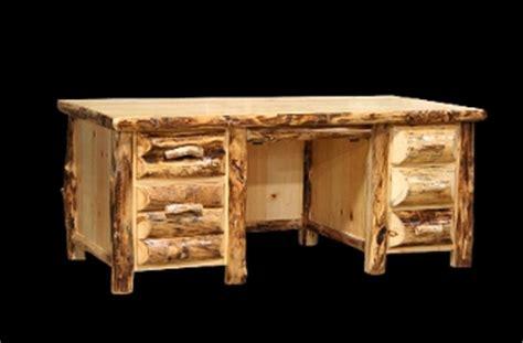 Western Furniture Utah by Log Executive Desk