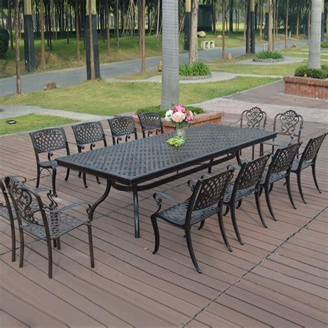 re de patio en aluminium 13 en fonte d aluminium meubles de patio meubles de