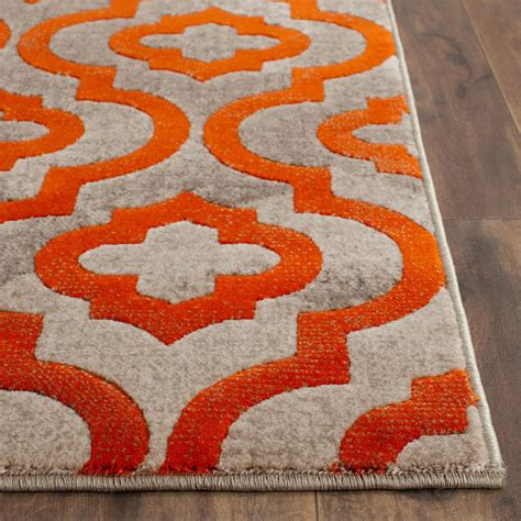 Grey And Orange Area Rug Best Decor Things Orange Rugs