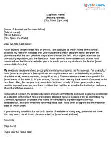 College Application Cover Letter Exles by College Application Letter