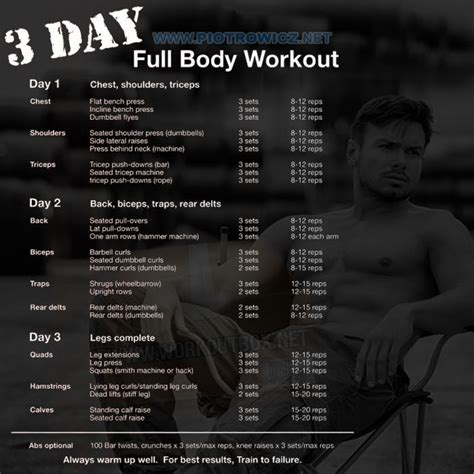 best bulking workouts bulking workout routine 3 day eoua