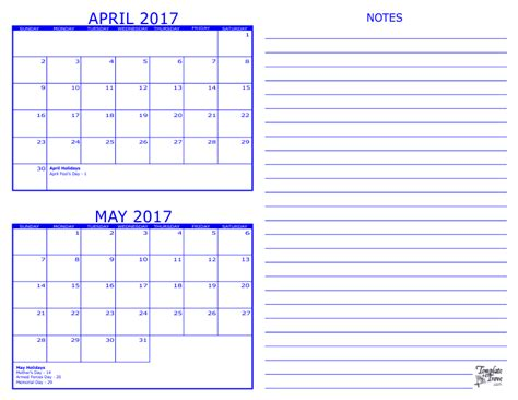printable calendar 2017 two months per page 2 month calendar 2017