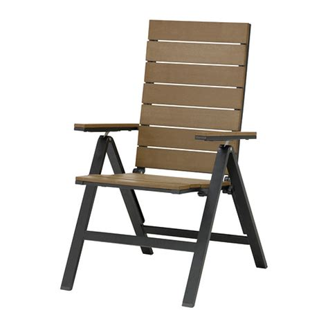 Folding Reclining Chairs by Falster Reclining Chair Outdoor Folding Black Brown