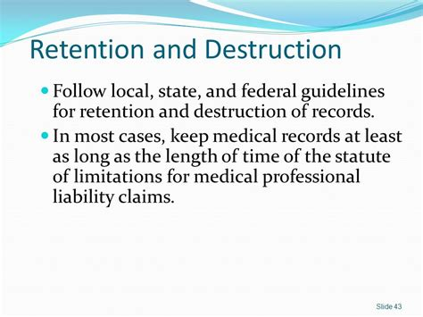 Statute Of Limitations On Mesothelioma Claims 1 by Records Management Module 1 Ppt