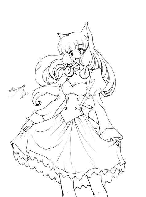 Anime Neko Couple Coloring Pages Coloring Pages Anime Neko Coloring Pages Printable