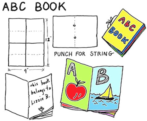 Book Making Crafts For Kids Ideas For Arts Crafts Activities Instructions For Making Abc Book Project Template