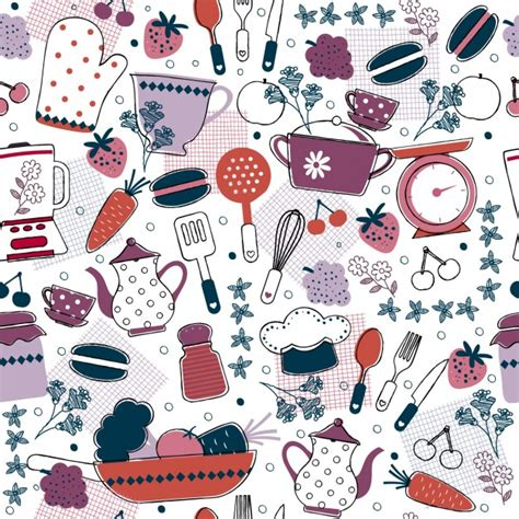 kitchen pattern vector free abstract kitcken pattern vector free download
