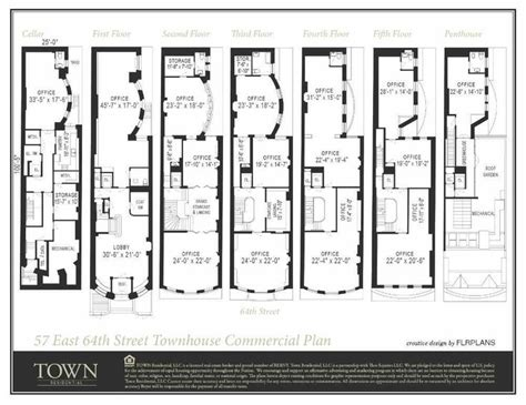 new york townhouse floor plans 12 best ideas about floorplans and cross sections on