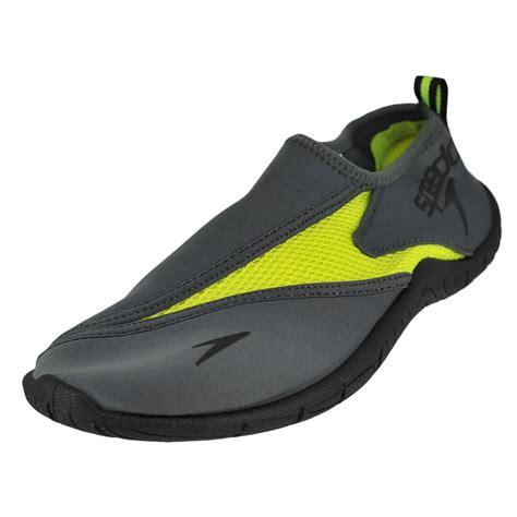 speedo shoes speedo surfwalker pro 3 0 grey safety yellow mens water