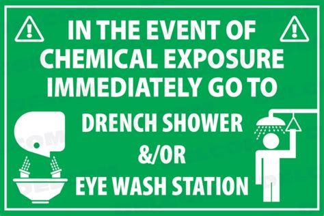 Can You Take A Shower With Contacts by Eye Wash Station Car Wash Caution Drench Shower Sign