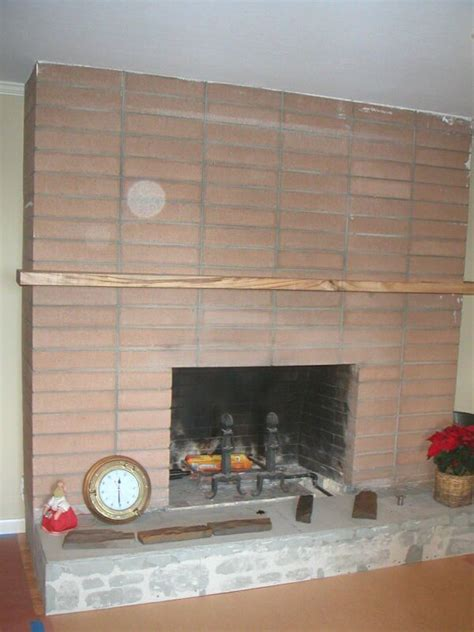 refacing brick fireplace with ceramic tile reface or tile over an ugly fireplace infotube net
