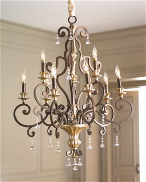 Horchow Chandeliers Nine Light Quot Heirloom Quot Chandelier Traditional Chandeliers By Horchow