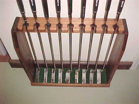 Golf Club Display Rack Wall by Wood Golf Club Display Rack Irons Putters Wall Or Floor For Scotty Cameron Golf Clubs And