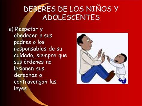 imagenes derechos de los niños y adolescentes derechos y deberes de los ni 209 os y adolescentes ppt video