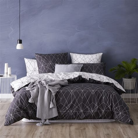 bedroom outlet metro otto quilt cover set charcoal bedroom outlet metro