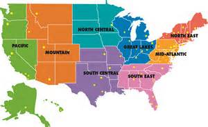 seven physical regions of the united states
