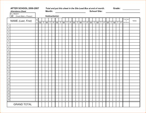 Printable Spreadsheet by Attendance Spreadsheet Template Payment Coupon Templates