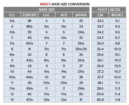 mens shoe width shoe sizes store