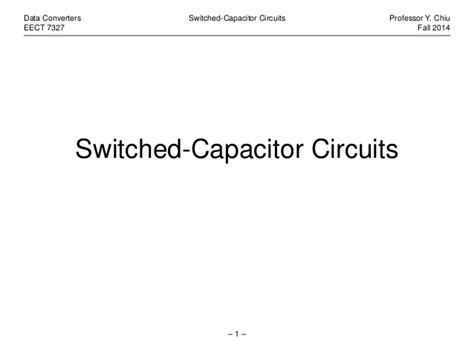switched capacitor circuits nptel switched capacitor