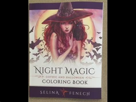 libro night magic gothic night magic gothic and halloween coloring book flip through youtube