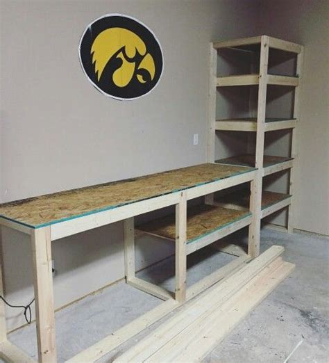garage benches and storage garage storage shelving and work table our projects