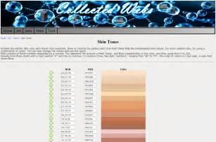 skin color rgb skin tones