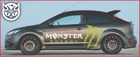 Monster Energy Sticker Auto by Monster Energy Logo Stickers Satu Sticker