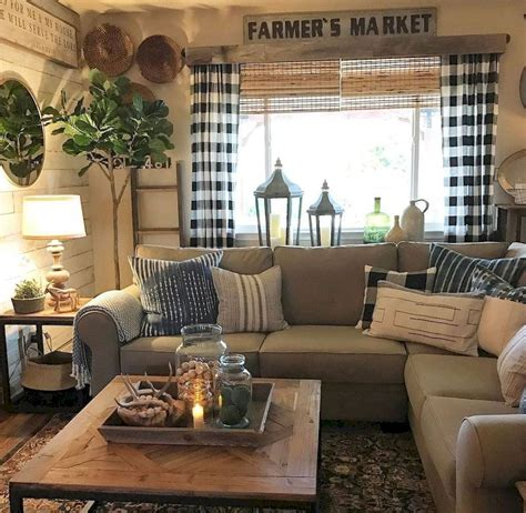 small cozy living room ideas rustic farmhouse decorating