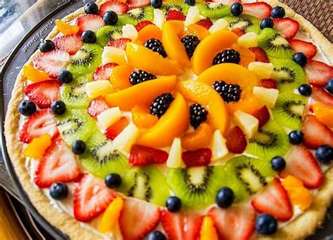 holiday fruit pizza fruit pizza wreath food recipes